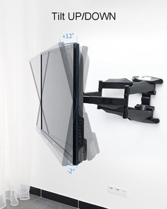 """Image 4 - 2019 nuovo NB P5 universale Full Motion 32 """" 60"""" LCD TV montaggio a parete staffa 6 BRACCIO FORTE 36.4kg 400X400 con cavo girevole della copertura pivot"""