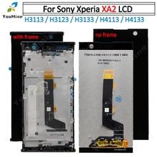 Für sony Xperia XA 2 LCD DIsplay Mit Touch Screen Digitizer Montage + rahmen Für sony xa2 LCD H3113 H3123 h3133 H4113 H4133 LCD