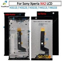 Para sony xperia xa 2 display lcd com tela de toque digitador assembléia + quadro para sony xa2 lcd h3113 h3123 h3133 h4113 h4133 lcd