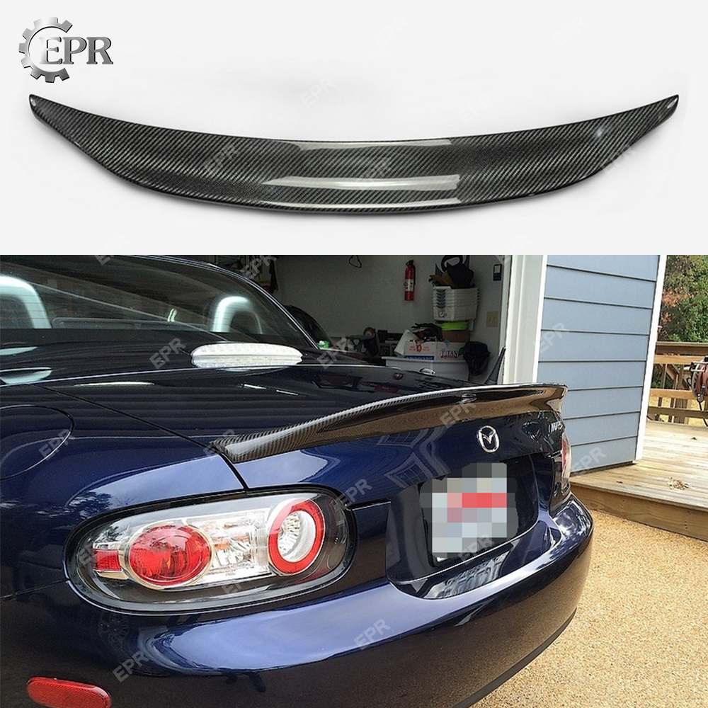 For <font><b>Mazda</b></font> <font><b>MX5</b></font> NC NCEC Roster Miata EPA Type 3 Carbon <font><b>Spoiler</b></font>(PRHT Hard Top Only) Tuning Aero Part Fiber <font><b>Rear</b></font> Roof Wing Lip image