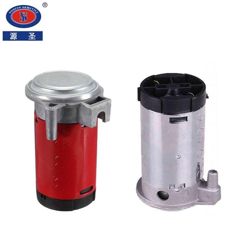 YUANSHENG 12 V/24 V czerwony/srebrny kolor uniwersalny 12V sprężarka powietrza do trąbka pneumatyczna samochód/ciężarówka/pojazd
