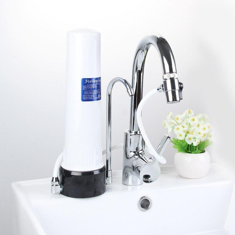Purificateur d'eau du robinet filtre à eau enlèvement filtre de remplacement percolateur en céramique cuisine ménage avant robinet purificador de agua