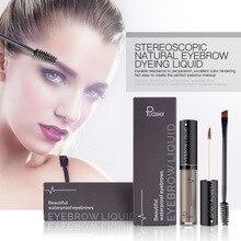 Pudaier Brand Eyebrow Gel Eye Brow Enhancer with Brush Waterproof Black Brown Natural Eyebrow Tint Dye Cream Tattoo Makeup kit
