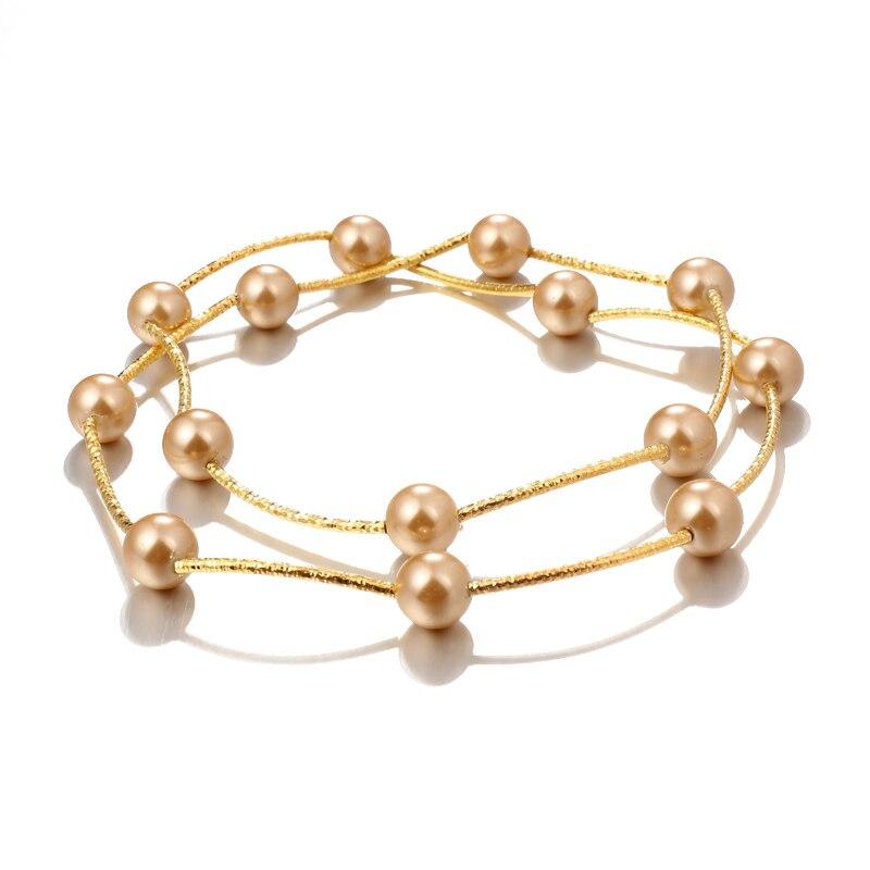 Ожерелье из искусственного жемчуга, высокое качество, не вызывает аллергии, опт, золотой цвет, массивное ожерелье, цепочка,, жемчужные украшения - Окраска металла: Nekclace 1528