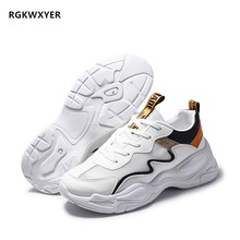 RGKWXYER New Fashion Mens Casual Shoes Breathable Comfortable Lace up Mesh Sneakers Man Running Wild Student