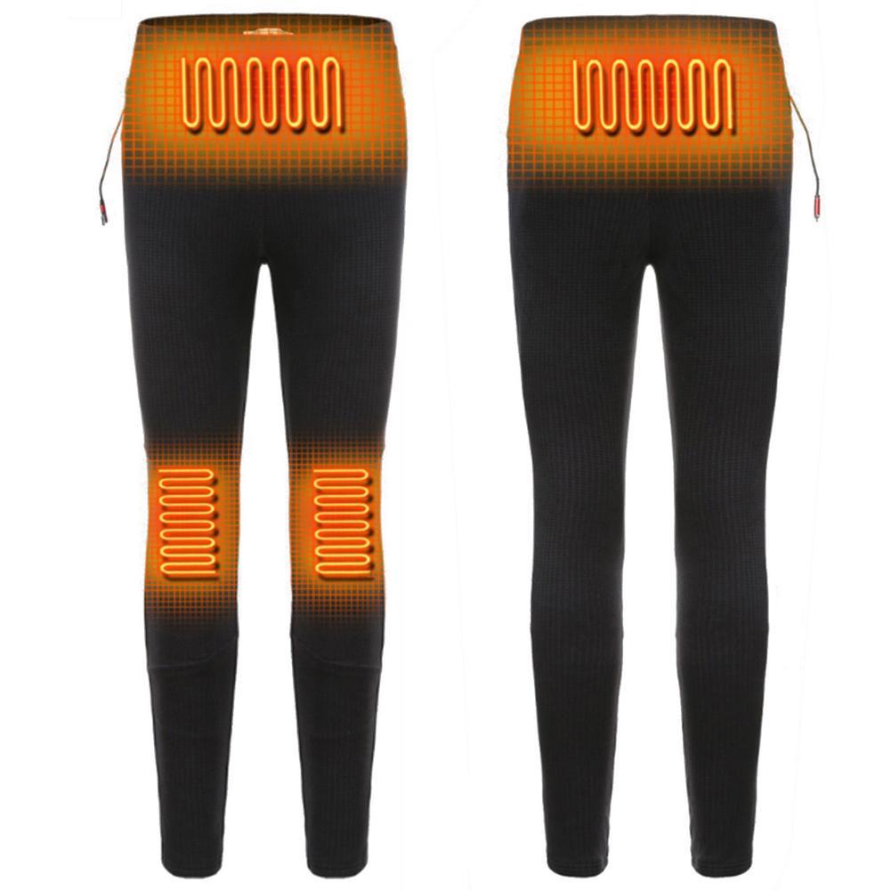 3 скорости Температура USB подогревом брюки 4 нагрева областях Перезаряжаемые эластичный нагрева брючки моющиеся Лыжный Спорт зимние штаны ...