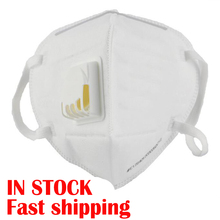 10Pcs Protect High Quality N95 Mask PM2.5 Mouth Cover Dust Masks With Breathing Valve Folding Non-woven Wholesale Dropshipping