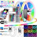 Светодиодная лента RGB Bluetooth WIFI 5-20 м Водонепроницаемая SMD 2835/5050 12 В постоянного тока гибкая лента Neno для украшения комнаты Светодиодная лента s
