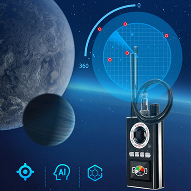 AI Intelligent Upgrade Wiretap Anti Spy Bug Detector Mini Hidden Camera GSM GPS Tracker Eavesdropping Finder 6