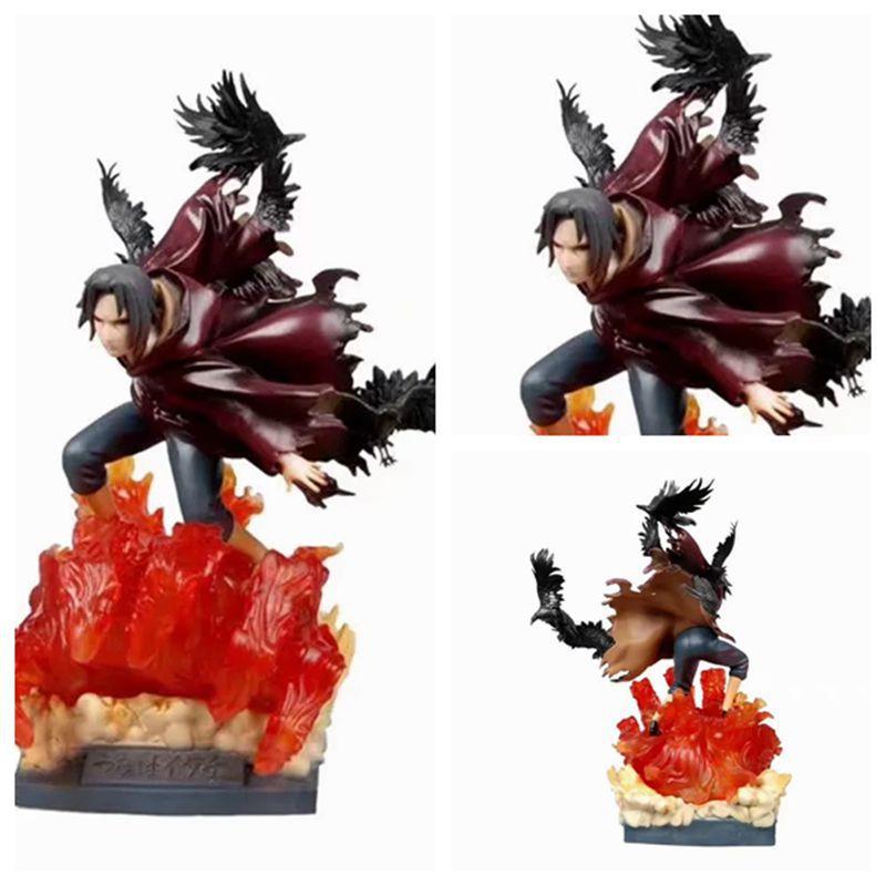 40cm Anime Naruto Akatsuki Uchiha Itachi Giant Edition GK Statue Action figure PVC Figure Collectible Model Toy gift Christmas