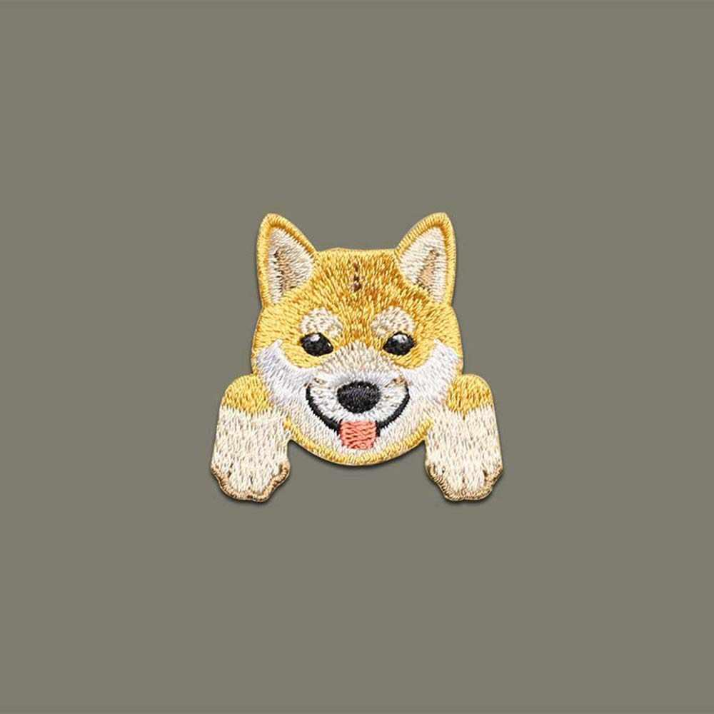1 Pcs 의류에 대 한 귀여운 강아지 자 수 패치 패치 배낭 장식에 치와와 시바 개 철 작은 applique