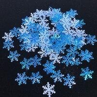 300 Uds blanco azul Rosa Artificial copos de nieve congelados fiesta Navidad decoraciones para la boda cumpleaños DIY hecho a mano decoración del hogar