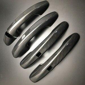 Image 1 - Auto Carbon Faser Türgriff Abdeckung Trim Für Benz C E S GLC GLE Klasse W205 W213 X253 W222 RHD