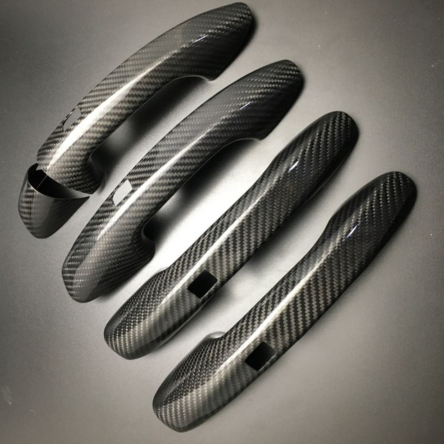 Auto Carbon Faser Türgriff Abdeckung Trim Für Benz C E S GLC GLE Klasse W205 W213 X253 W222 RHD