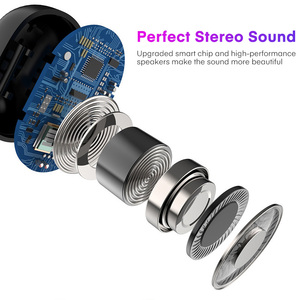 Image 5 - TOPK TWS Bluetooth 5.0 słuchawki Stereo HD z redukcją szumów słuchawki gamingowe zestaw głośnomówiący z słuchawkami w uchu