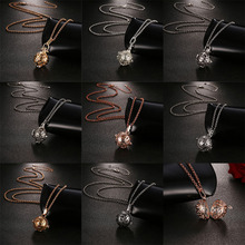 New Mexico Chime Music Ball Caller Vintage Pendant Aroma Essential Oil 3D Style Necklace For Women Fashion Sweater Chain Jewelry vintage cross anchor sweater chain for women