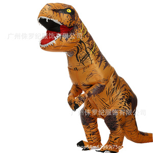 Image 1 - Costume de dinosaure gonflable pour adulte, Costumes de dinosaure T REX, Blow Up, déguisement Cosplay mascotte Dino de dessins animés, pour hommes, femmes et enfants