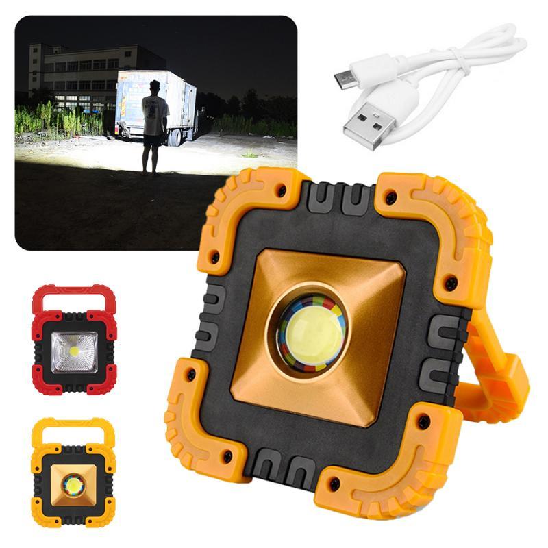 Spor ve Eğlence'ten Dış Mekan Aletleri'de USB şarj edilebilir güneş enerjili LED ışık COB çalışma lambası taşınabilir açık kamp acil durum lambası projektör avcılık el feneri yürüyüş araçları title=