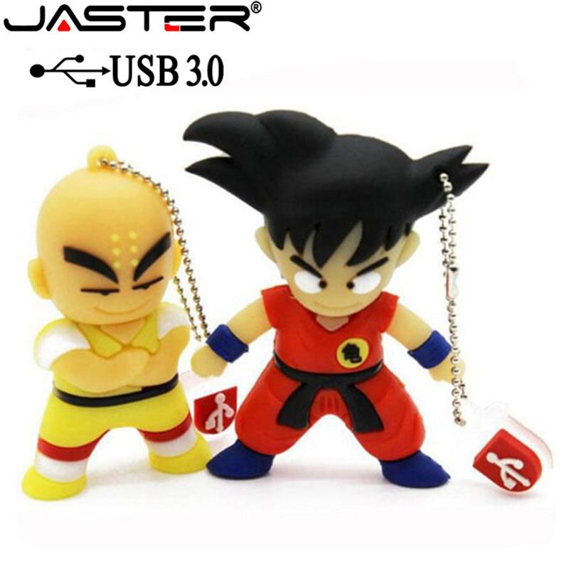 JASTER USB 3.0 Pen Drive Cartoon Dragon Ball Goku Monkey King Gift 4gb 8gb 16gb 32gb 64gb Usb Flash Drive Prawn Pendrive