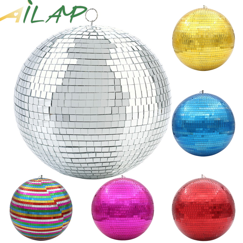 Rotating Reflective Glass Ball Holiday Lights Decoration Wedding Light Dj Bar Ktv Disco Ball Stage Decorate Hotel Colorful Glass
