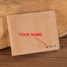 BOBO BIRD Men Wallet Leather Customize Gift Engrave Your Name Card Holder Pocket Christmas Gifts to Father Husband(China)