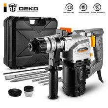 Deko dkrh26ld4/dkrh32ld5 multifuncional martelo rotativo com bmc e acessórios broca de impacto martelo de demolição elétrica