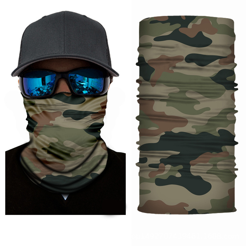 3D Magic Scarf Camouflage Outdoor Cycling Multifunction Dust Sun Protection Tube Neck Face Mask Bandana Headband For Men Women