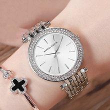 Топ люксовый бренд женские наручные часы серебро сталь браслет