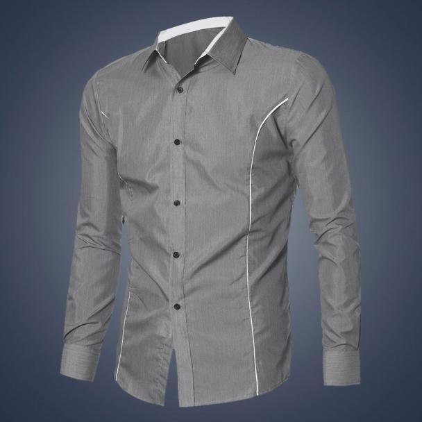 Men Shirt New Fashion Mens Luxury Long Sleeve Casual Slim Fit Stylish Dress Shirts Business Shirts Men Chemise Homme