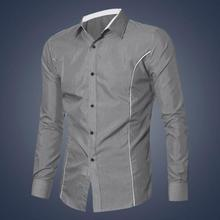 Men Shirt New Fashion Mens Luxury Long Sleeve Casual Slim Fi