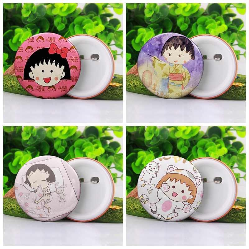 Anime Chi Chibi Maruko broş Sakura Momoko sevimli eğlenceli karikatür plastik broş rozet pin moda takı kişiselleştirilmiş aksesuarlar