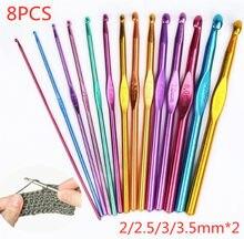 Вязальные спицы из оксида алюминия, 8 шт./лот, 2/2, 5/3/3 мм, набор вязальных спиц для вязания крючком, инструменты для вязания свитеров и рукодели...