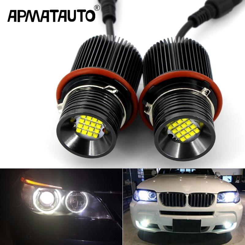 2 sztuk canbus 160w biały kąt oczy obrysówki LED efekt aureoli żarówka do E39 E53 X5 E60 E61 E63 E64 E65 E66 E83 X3 E87 Super jasne