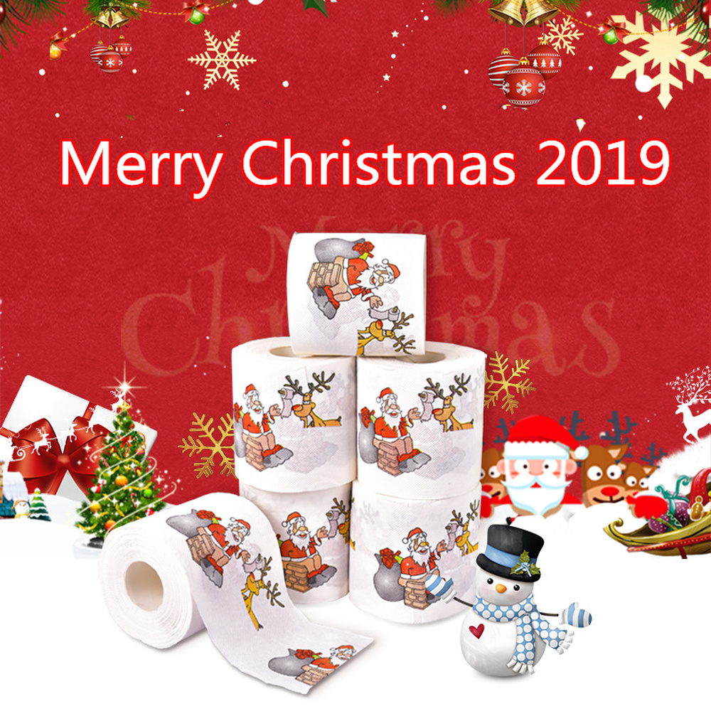 New-Year-Gifts-22m-Roll-Santa-Claus-Reindeer-Christmas-Toilet-Paper-Christmas-Decorations-for-Home-Natale (5)