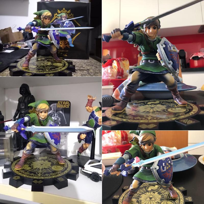 20cm Zelda Anime Figure Skyward Link 1//7 Pvc Action Figure Collectible