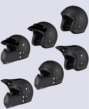 Vintage Motocross Motorcycle Helmet Retro Cafe Racer Vespa Open face kask full face casco moto modular moto helmet DOT недорого