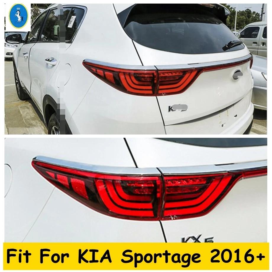 ABS Chrome Rear Tail Light Lamp Cover Trim 2pcs FIT For Kia Sportage 2017 2018