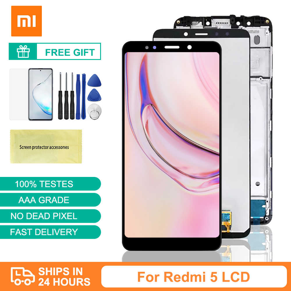 "Redmi 5 Lcd Originele 5.7 ""Display Vervanging Voor Xiaomi Redmi 5 Display Touch Screen Digitizer Vergadering Redmi 5 Screen frame"