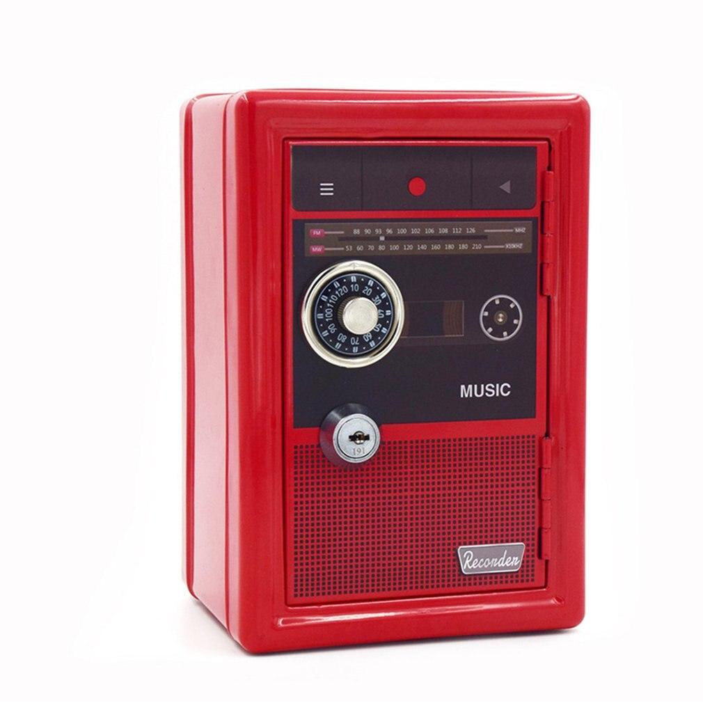 Durable ATM Password Coin Money Box Vintage Mini Bank Automatic Deposit Money Saving Box Organizer Boxes Secret Safe Box
