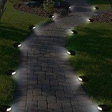 CLAITE Открытый водонепроницаемый светодиодный Солнечный сад каменные фонари белый светильник уличный фонарь для газона путь квадратный забор пейзаж