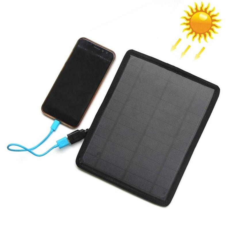 6v 5 3w usb carregador de painel solar com saco de armazenamento para o telefone celular