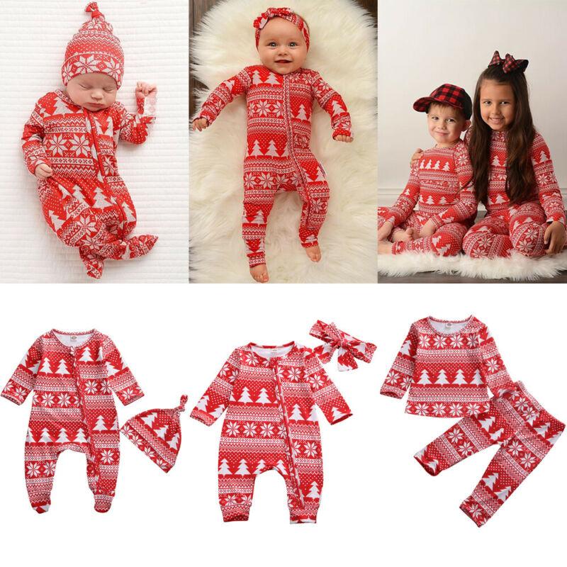 Baby Spring Autumn Fashion Christmas Family Matching Pyjamas Set Baby Boy Girl Sleepwear Nightwear
