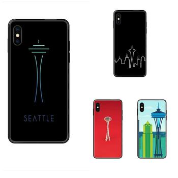 Photo Soft Phone Case Seattle Space Needle For Xiaomi Redmi Note 4 5 5A 6 7 8 8T 9 9S Pro Max image