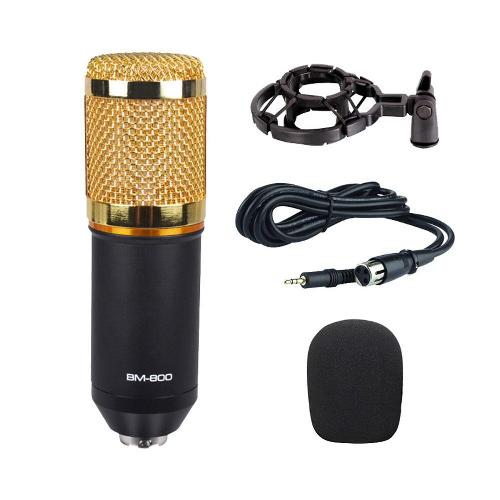 Microphone for Mac laptops and computers BM800 Metal Mesh Studio for video recording for Youtube image