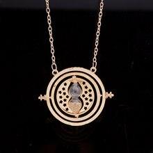 Crianças jóias de alta qualidade vintage tempo turner hourglass pingente colar