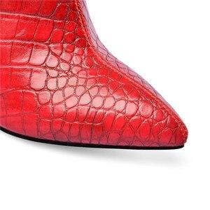 Image 2 - MORAZORA 2020 למעלה איכות נשים מגפי קרסול הבוהן מחודדת סתיו חורף צ לסי קצר מגפי עקבים גבוהים מסיבת חתונה נעלי אישה