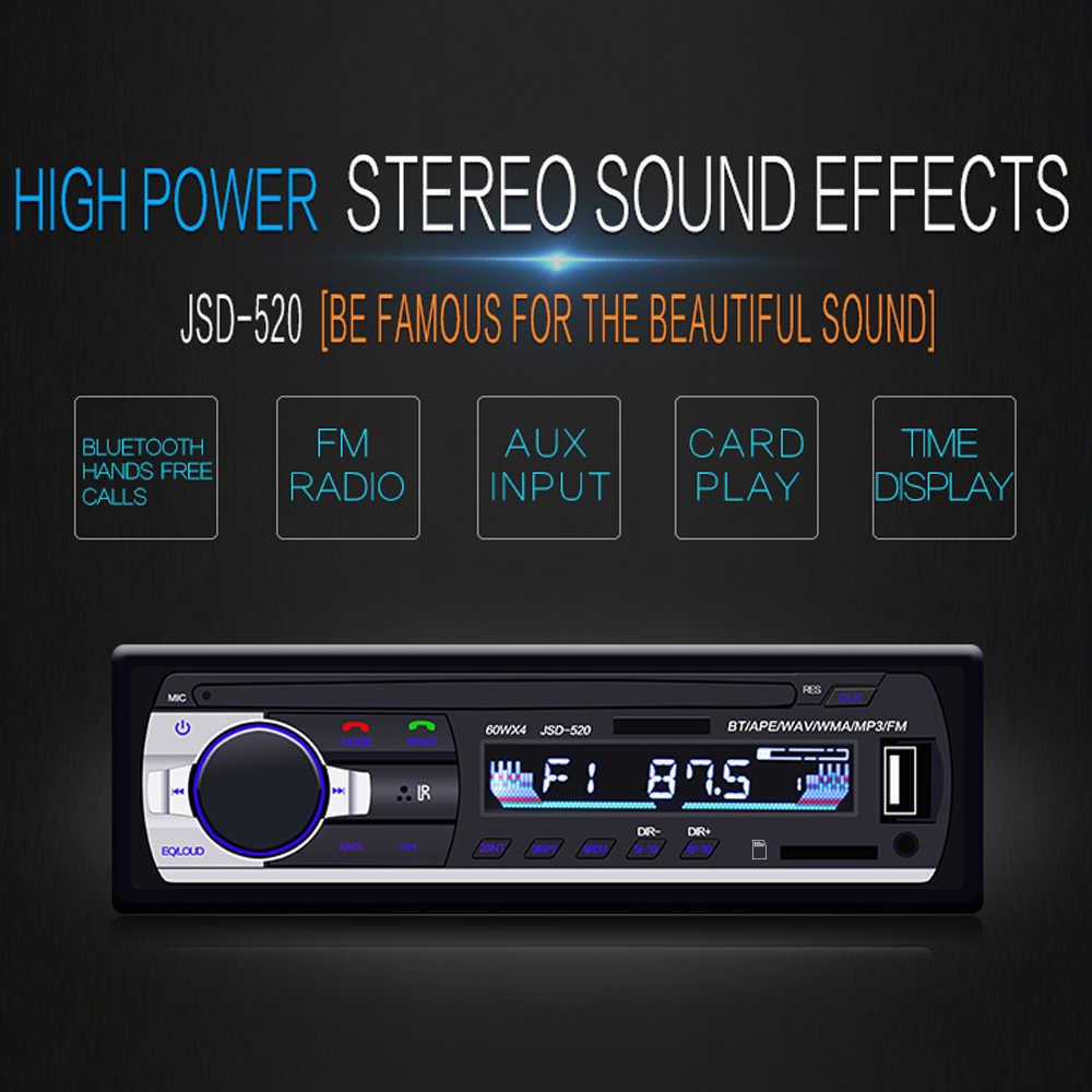 Podofo Car Radio USB FM Autoradio Car Stereo With Remote MP3-JSD520 Bluetooth In-dash 1 din Audio player car  MP3/WMA/WAV/FLAC