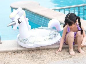 Flotador de piscina inflable para bebés y niños, juguete de flotador para piscina con dibujos animados de 0,5 a 4 años, con espesor de flotador para niños, entrenador de nado