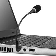 Mini micrófono de capacitancia Flexible con conector de 3,5mm para teléfono móvil, PC, portátil y portátil