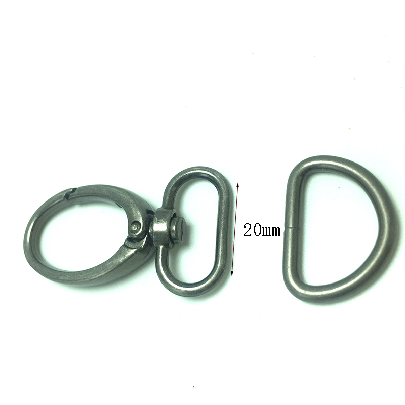 """10 Sets Swivel Snap Hooks Lobster Clasp Claw Fashion Clips with D Rings 3//4/"""" 1/"""""""